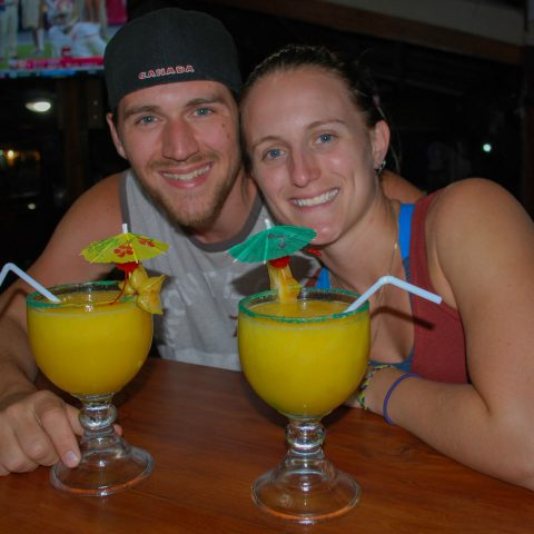 Joey and Ali with Mango Daiquiris