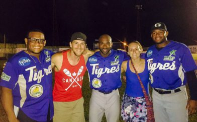 Joey and Ali with the Dutch Baseball Players