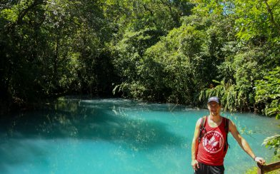 Joey and the Blue Rio Celeste Lagoon