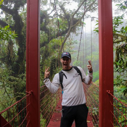 Joey on the Suspension Bridge