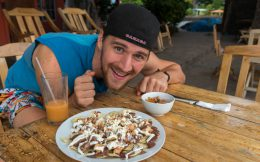 Joey with BBQ Nacho's