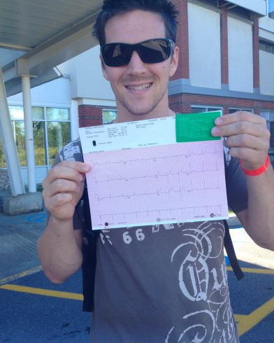 Joey With His ECG Test Before The Ironman
