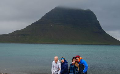 Iceland's Kerkjufellfoss Mountain Family Photo