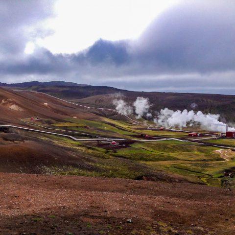 Krafla Volcano Geothermal Pipes