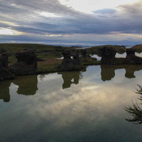 Lake Myvatn Lava Pillars