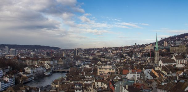Looking Over Zurich From A Tower