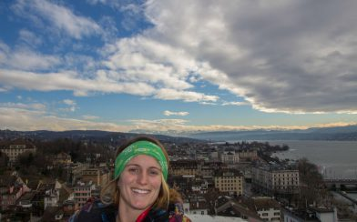 Looking Over The City Of Zurich With Ali In The Picture