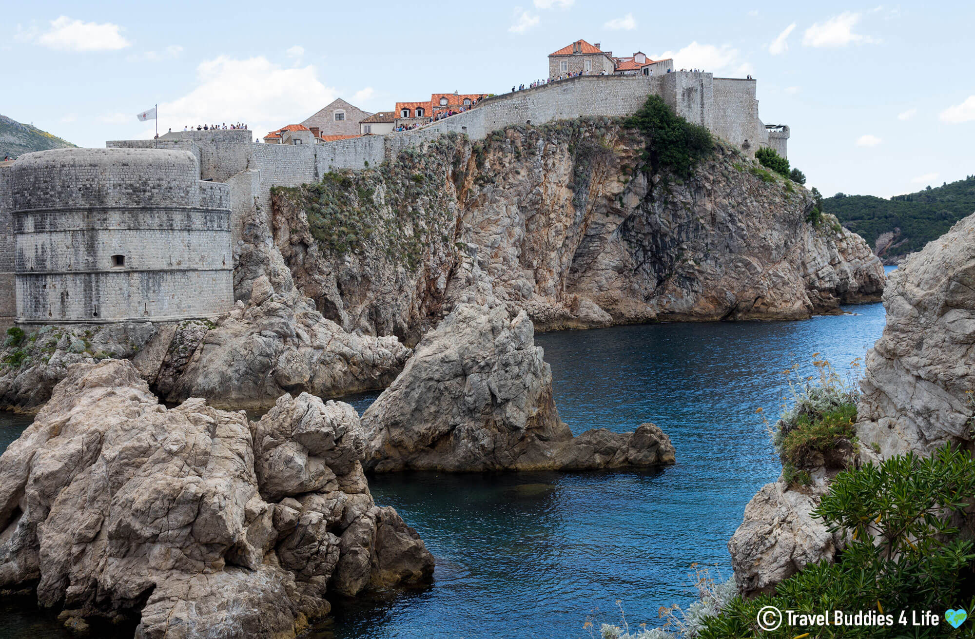 Looking at Old Town Dubrovnik and the City Walls