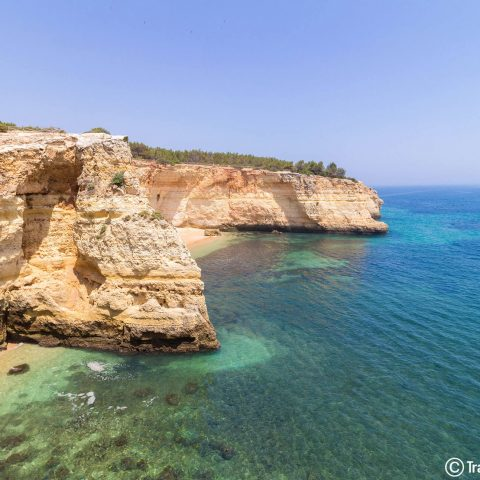 Algarve white Sand Blue Water Beaches in Portugal
