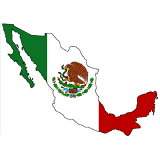 Mexico Country Flag And Shape
