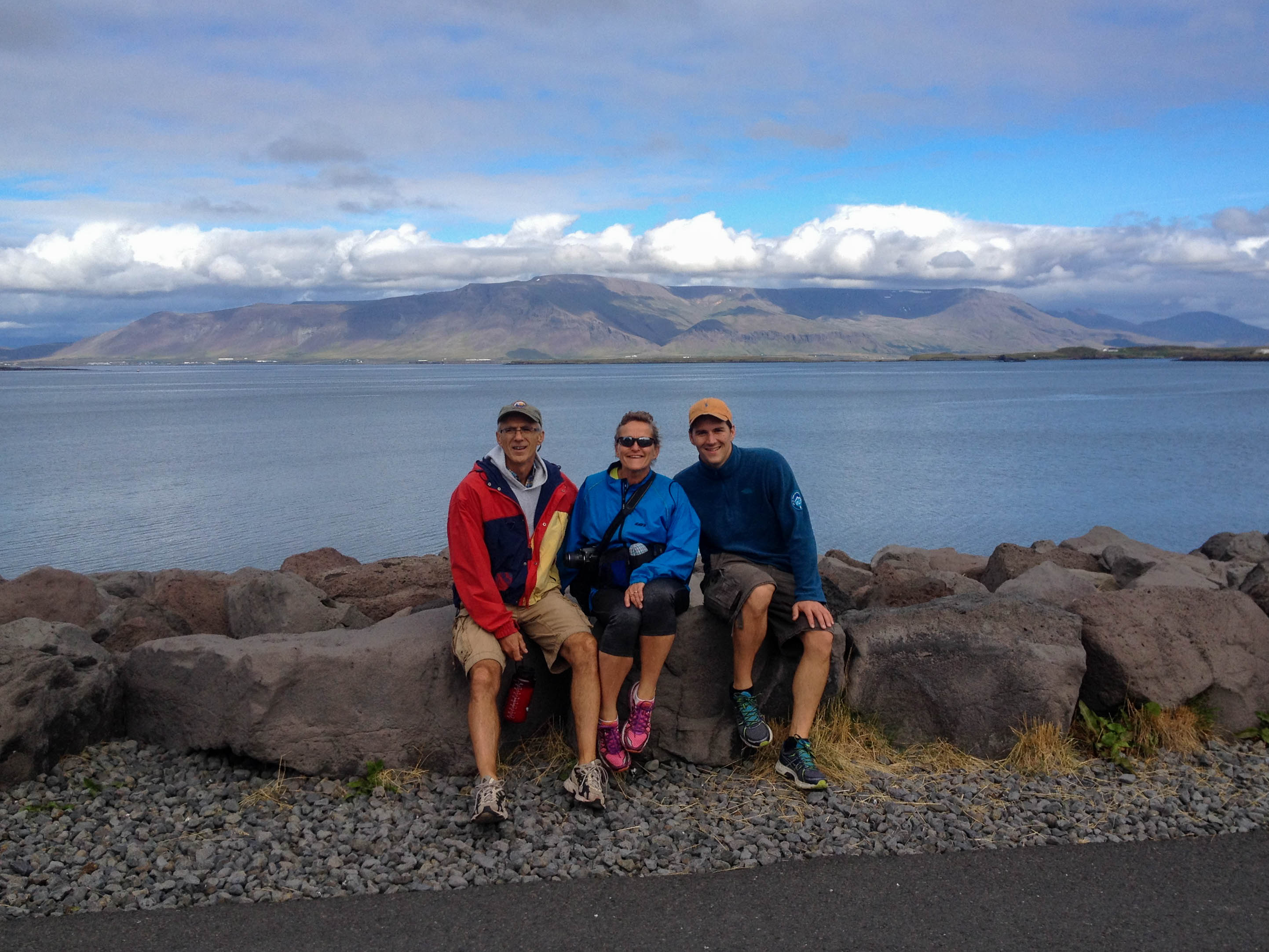 Mom, Dad and Joey on a Run in Reykjavik, Iceland
