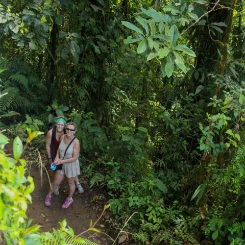 Mom and Ali in the Jungle of Tenorio Volcano National Park