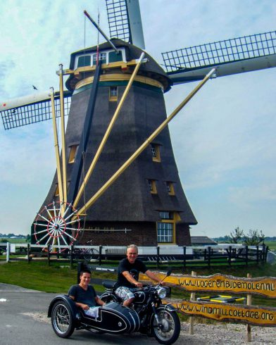 Motorcycle and a Windmill