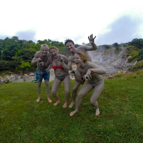The Family being Mud Monsters