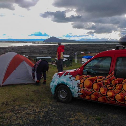 Myvatn Campsite Looking out Over the Lake