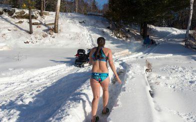 Nadine Running to the Skidoo