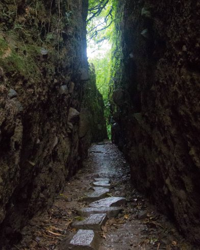 Narrow Walkway on the Crater Trail