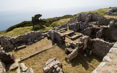 Old Shop Foundations In Ancient Thera, Greece
