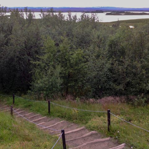 Path Down to Myvatn Lake