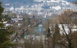 Peeking Through The Tree's At Bern, Switzerland