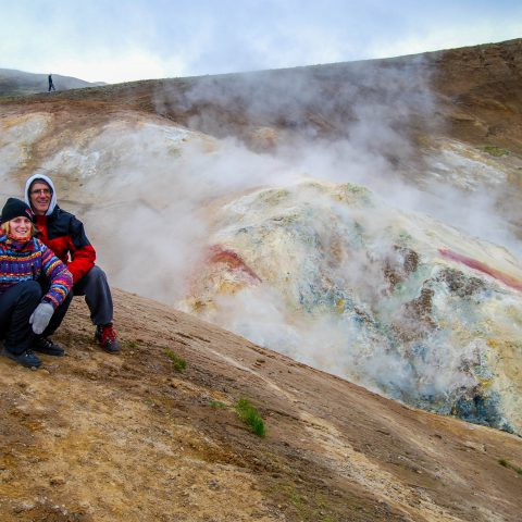 Alisha, Mom and Dad in the Sulfur Fields of Iceland