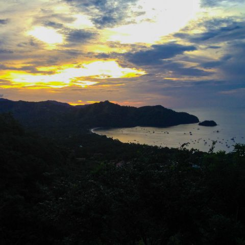The Sunset of Playa del Coco from the Hill