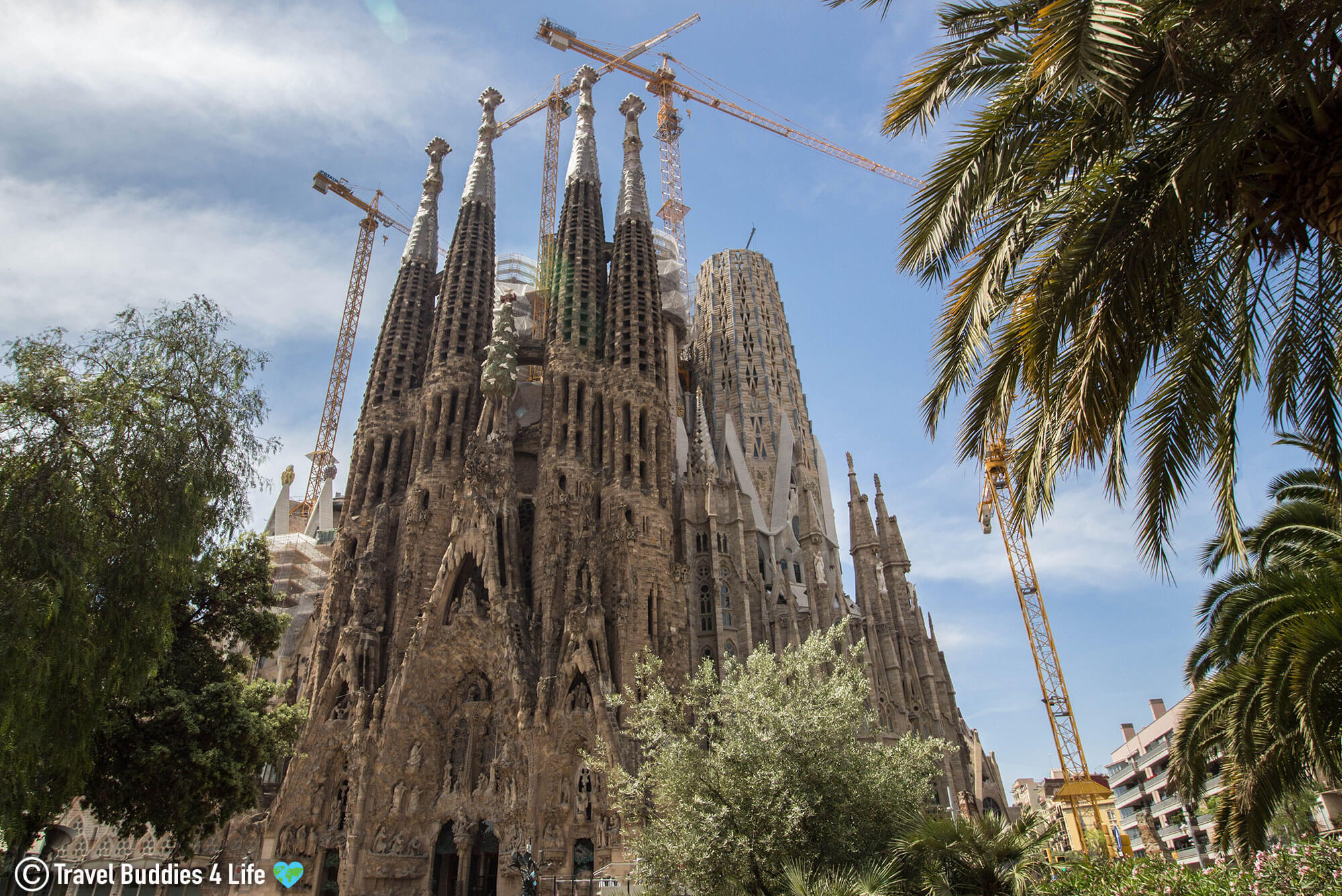 Sagrada Familia Catherdral, Gaudi's temple in Barcelona Spain, Europe