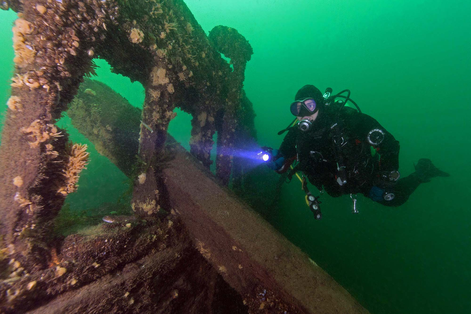 Scuba Diving The St Lawrence River In Brockville, Ontario, Canada