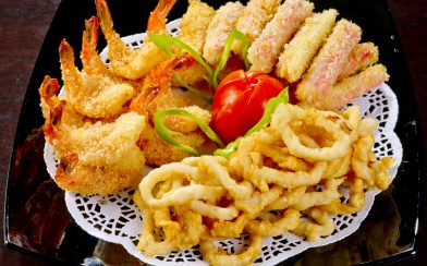 Sea Food Plate At The Restaurant
