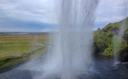 Iceland's Seljalandsfoss Water Cascade