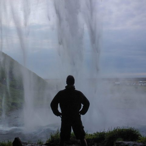 Iceland's Seljalandsfoss and Joey's Silhouette