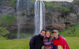 Seljalandsfoss Waterfall with Joey, Dad and Ali