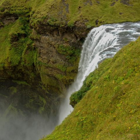 Skogafoss Waterfall Edge
