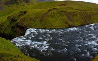 The Skogafoss Waterfall Peak