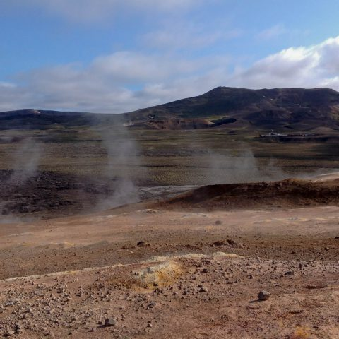 Smoking Mars Like Landscape in Myvatn