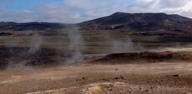 Smoking Mars Like Landscape in Myvatn