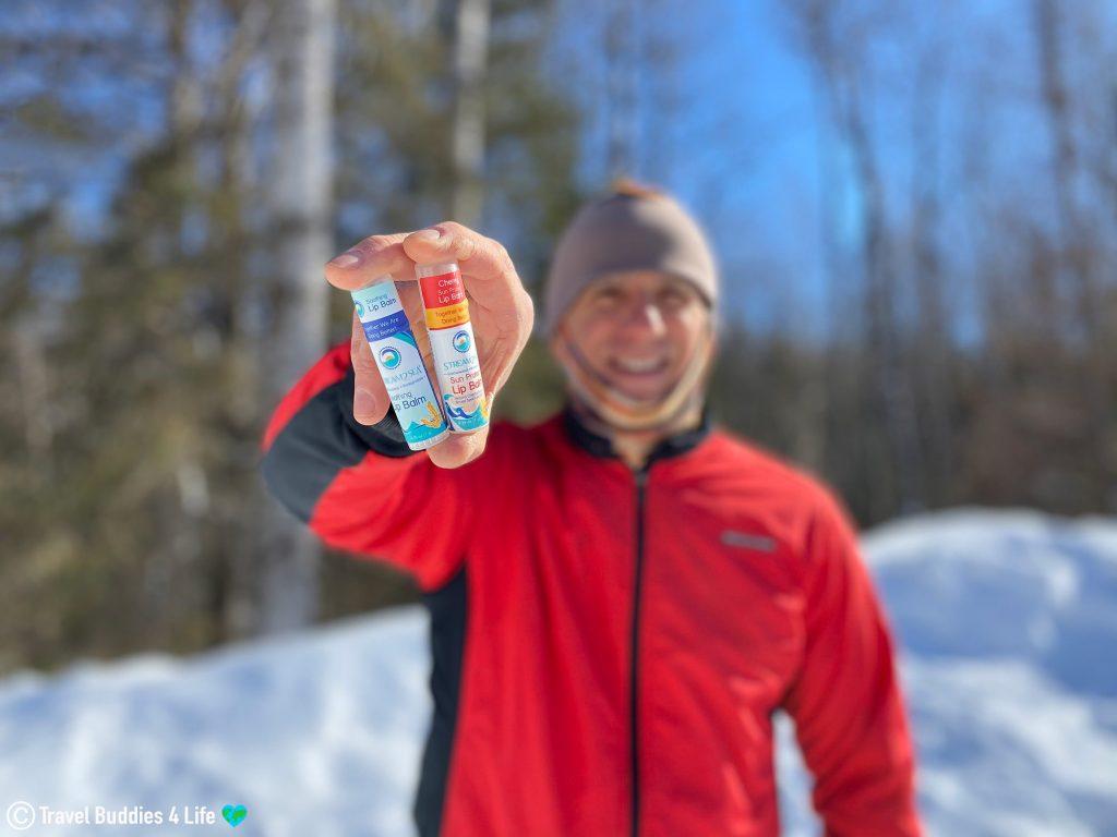 Stream2Sea Ecologically Sustainable Lip Balm on the Ski Slopes