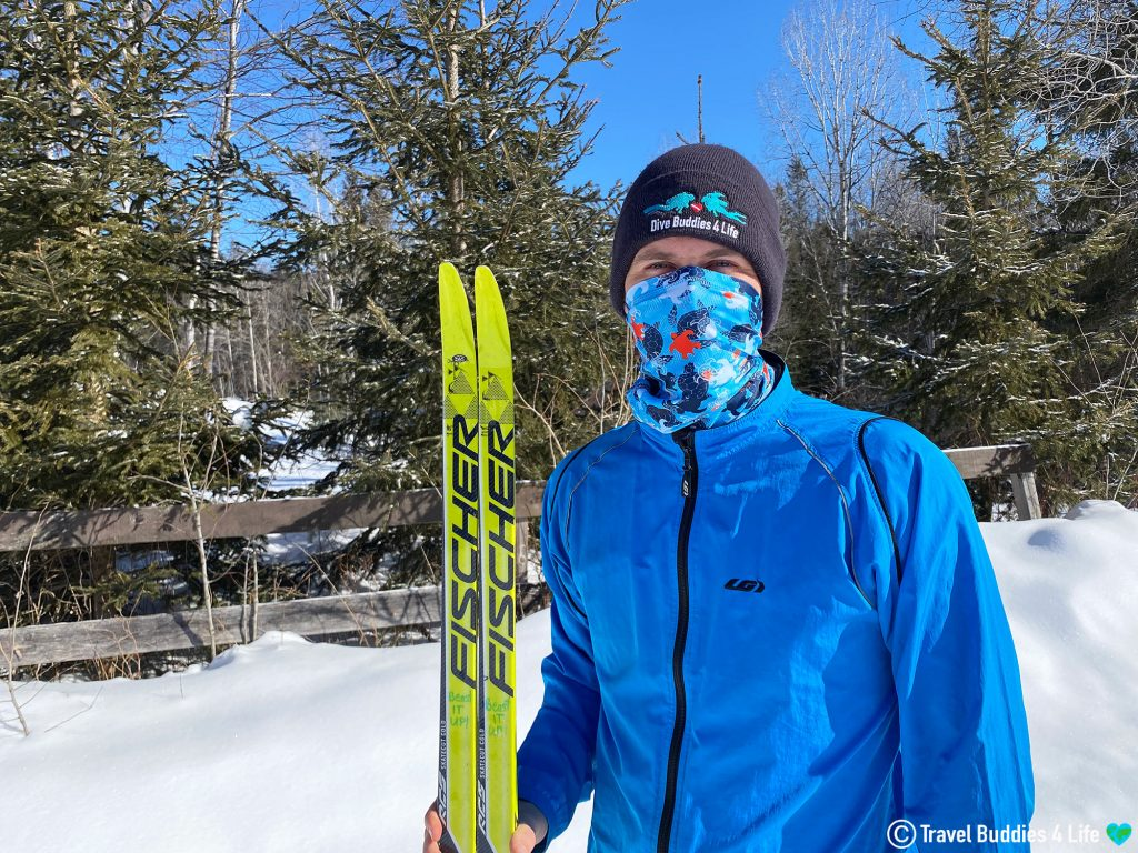 Stream2Sea Sea Turtle Buff for Cross Country Skiing