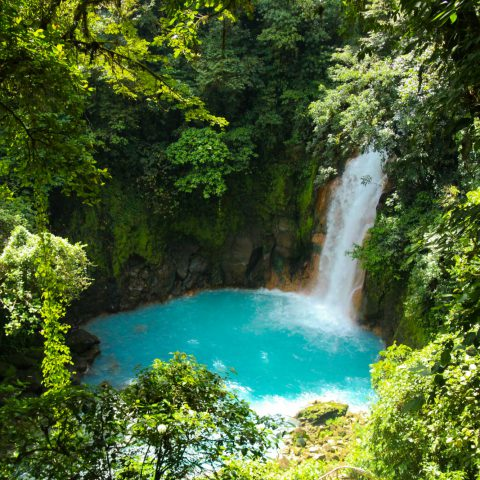 The Azure Rio Celeste Waterfalls