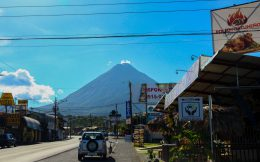 The City of La Fortuna in Costa Rica