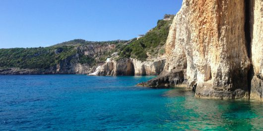 The Cliffs And Water Of The Island Of Zakynthos