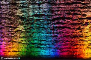 The Colourful Lights Illuminating The Brickwork Of The Brockville Trail Tunnel, Ontario, Canada