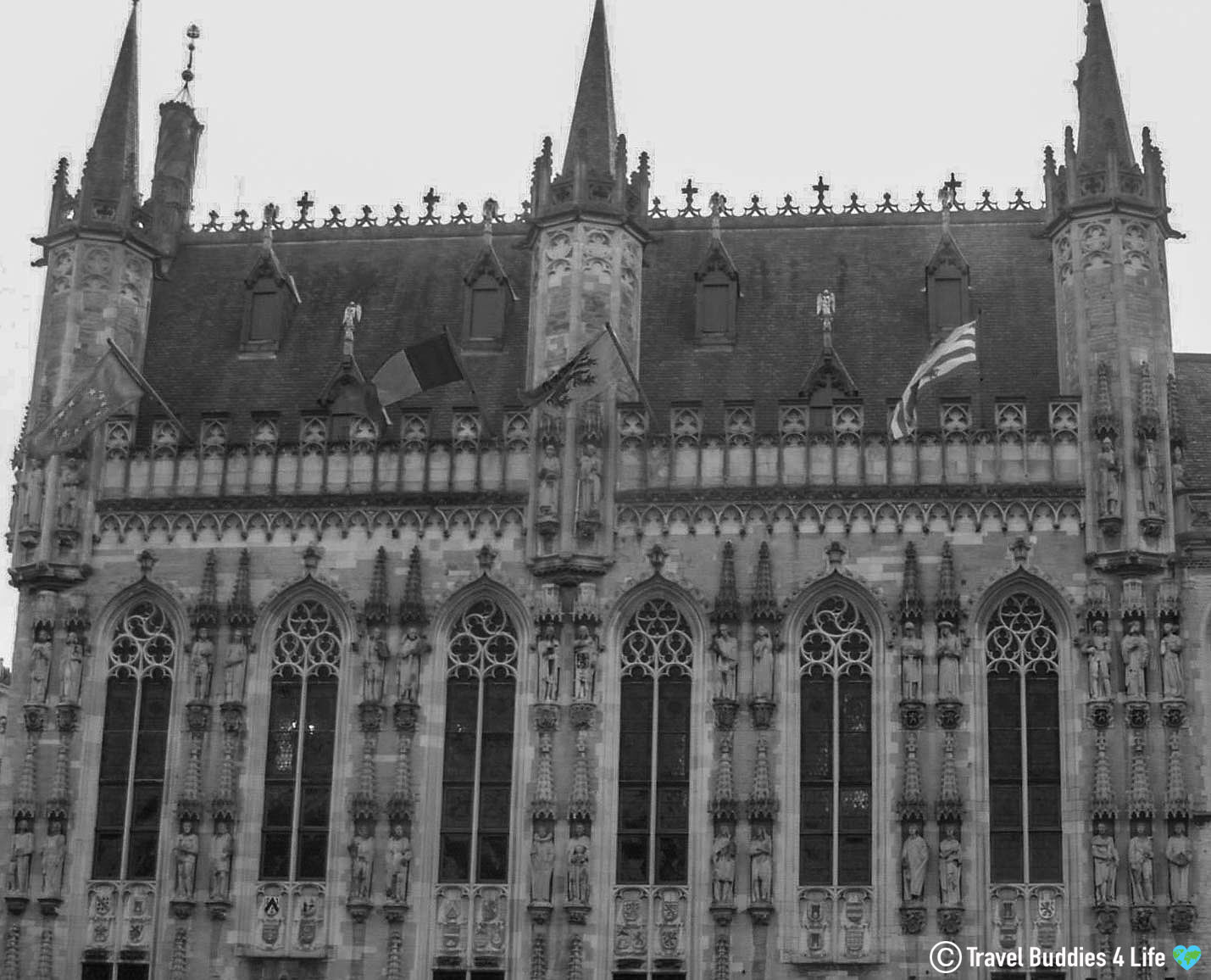 The Downtown Architecture Of Bruge City Center, Belgium, Europe