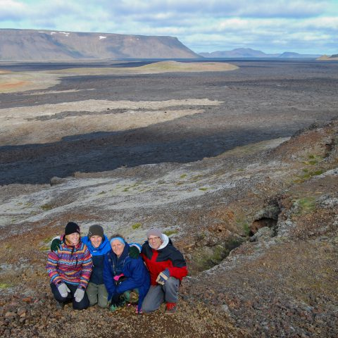 The Family at the Lava Fields