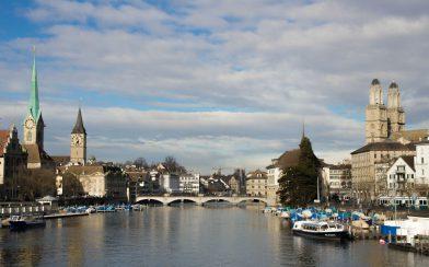 The Harbour Of Zurich, Switzerland