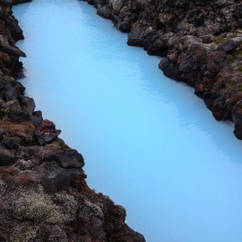 The Incredibly Blue Water of the Hot Springs