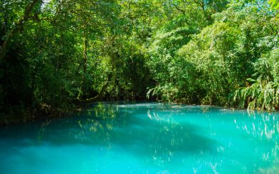 The Rio Celeste Lagoon in Central Costa Rica