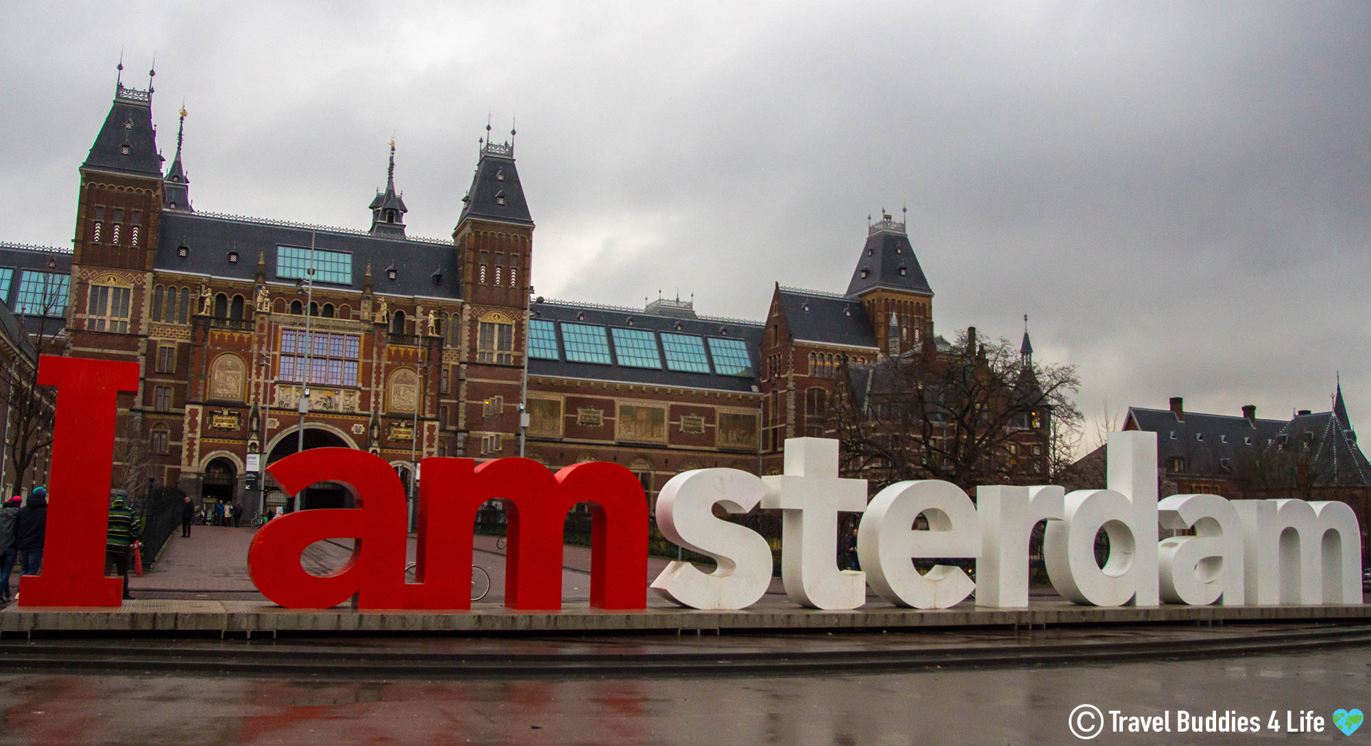 The Large I AMSTERDAM Sign In The Netherlands, Europe
