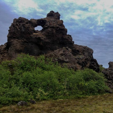 The Lava Rock Formation in Myvatn
