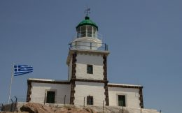 The Lighthouse At The Tip Of Santorini, Greece